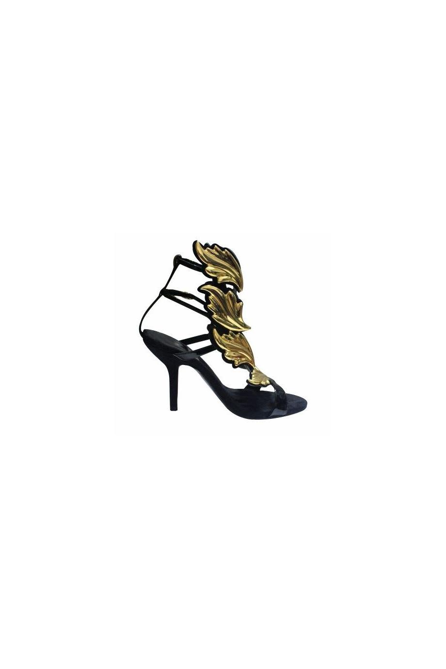 Online store ailsa multi leaves details sandals black