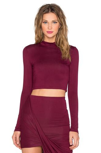 top long burgundy