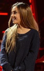 ariana grande,oversized sweater,glitter,sweatshirt,sweater,blue,blue shirt,shirt,t-shirt,style,sparkle,shimmery,dark blue