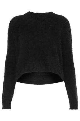 Knitted Fluffy Crew Jumper - Jumpers - Knitwear  - Clothing - Topshop