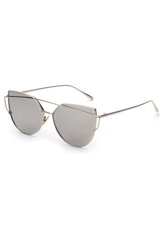sunglasses metallic sunglasses silver bikiniluxe
