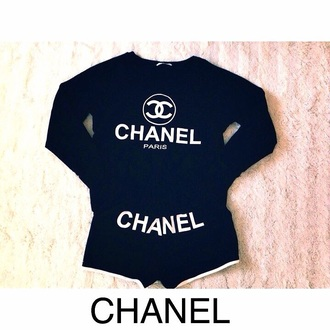 sweater chanel sweater white sweater black sweater blouse