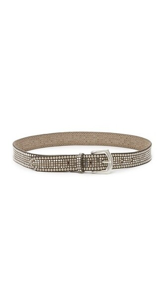 statement belt taupe