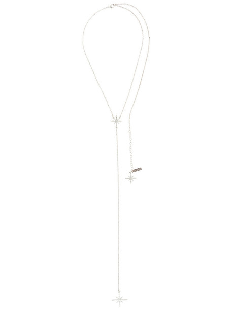 long women necklace pendant grey jewels