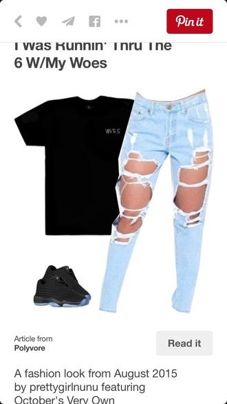 shirt black woes