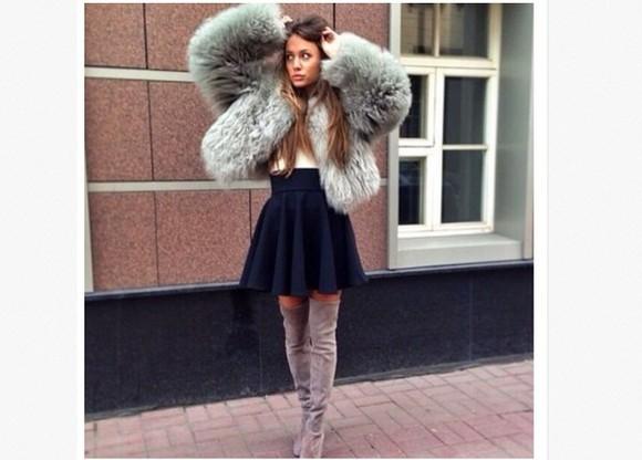 beautiful style love more fur fur coat luxury fashion