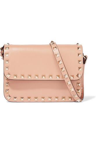 mini bag shoulder bag leather peach