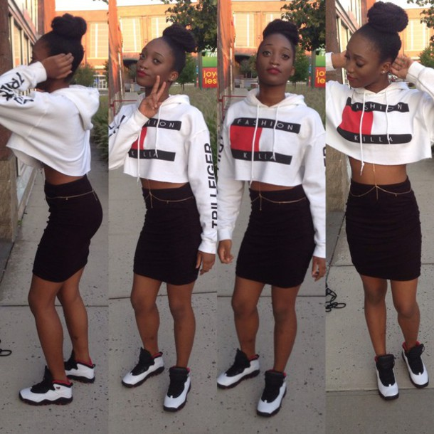 b0f76ae0 sweater, tommy hilfiger, fashion, crop tops, cropped sweater ...