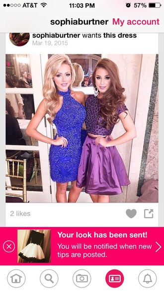 dress sherri hill purple dress homecoming dress