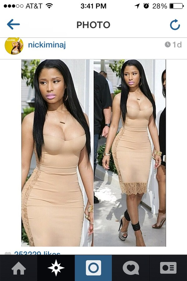 dress nicki minaj bodycon