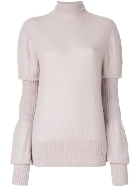 Lemaire jumper women mohair purple pink sweater