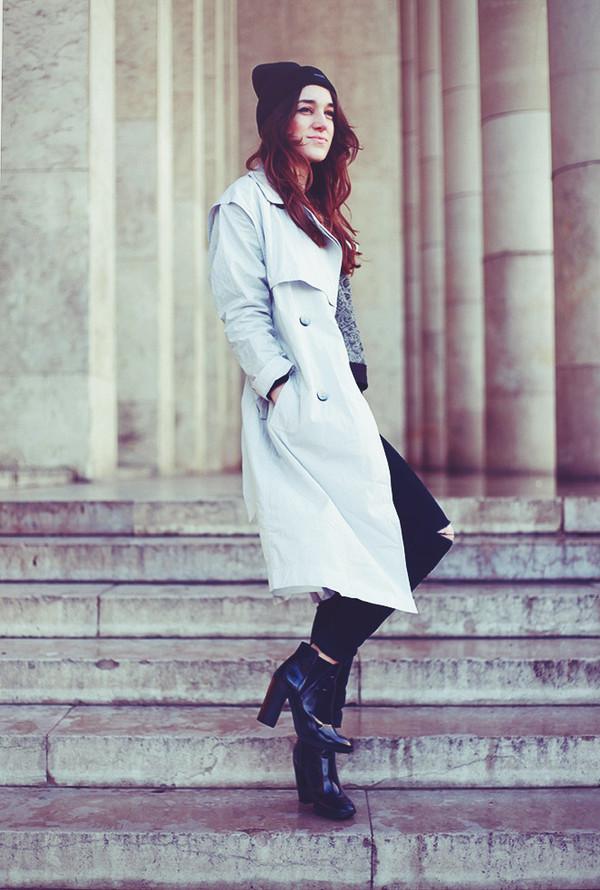elle frost jeans shoes sweater hat coat