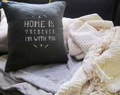 home accessory,home decor,tumblr,black,cozy,pillow,bedroom