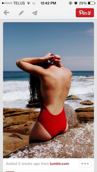 swimwear red swimwear one piece swimsuit