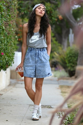 sweat the style tank top top shorts socks shoes