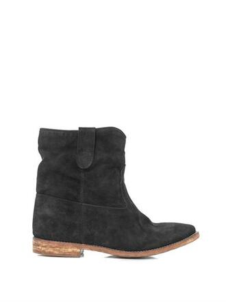 shoes black boots isabel marant suede