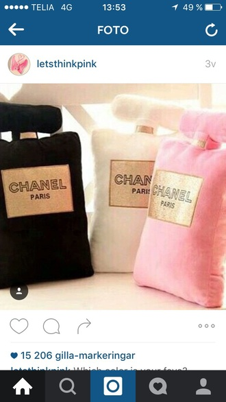 home accessory pink black chanel white