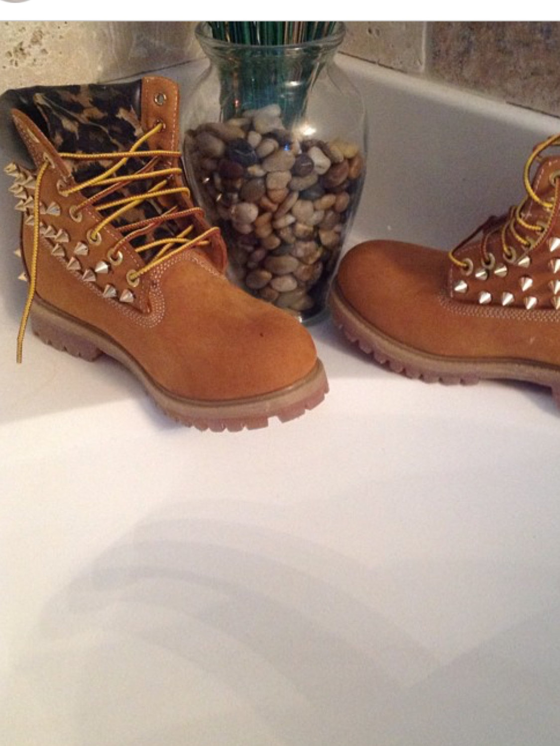 Adult custom timberland boots