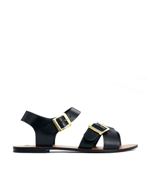 ASOS | ASOS FIRESTORM Leather Sandals at ASOS