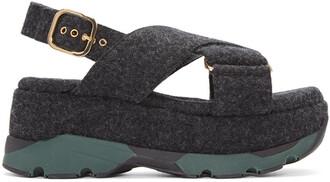 sandals platform sandals grey shoes