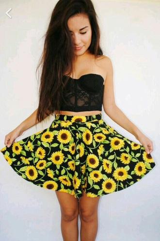 skirt sun flower