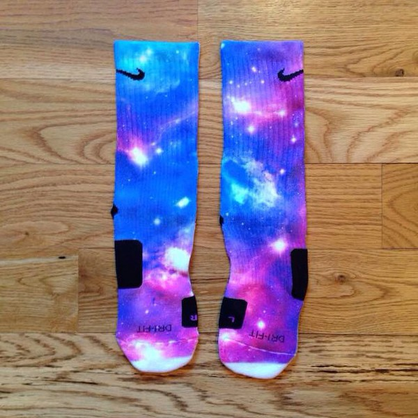 socks galaxy socks elites nike socks blue purple galaxy print dope mens socks womens socks 3d print socks nike elite socks