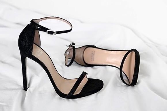 shoes sandals black fashion high heels party elegant
