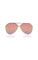 Topgun aviator gold sunglasses, pink lenses