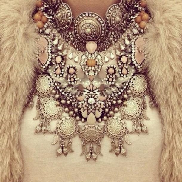jewels pretty diamonds necklace luxury embellished statement necklace