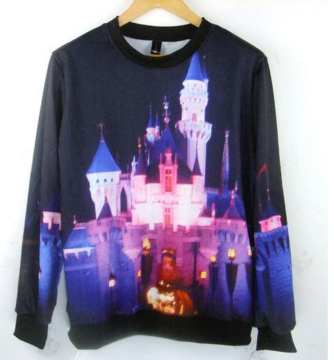 Disney castle digital print sweatshirt from tumblr fashion on storenvy