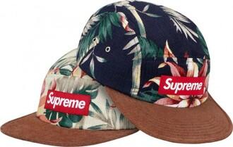 hat snapback floral supreme