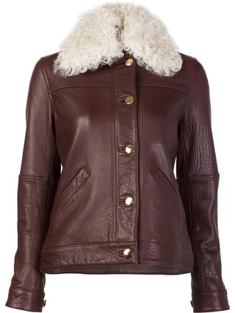 jacket leather jacket women leather brown