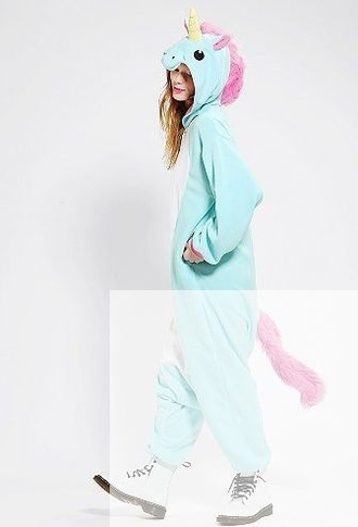 pajamas unicorn light blue loveit