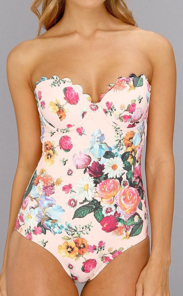 49ea3c053b5382 swimwear floral pink roses vintage swimwear swimwear one piece swimsuit one  piece swimwear printed floral floral.