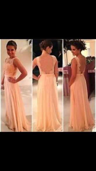 dress prom peach pale pink prom dress long prom dress peach dress emboired dress evening dress wedding dress bridesmaid ball gown dress formal dress long bridesmaid dress long dress