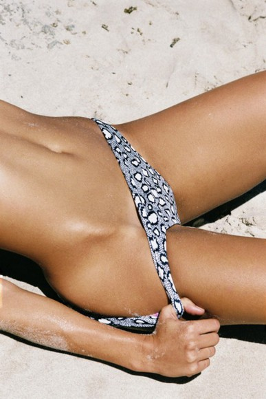 animal print leopard print swimwear bikini bottoms bikini