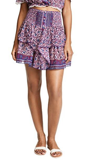 Poupette St Barth miniskirt pink skirt