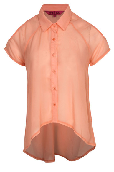 clothes coral chiffon blouse top day top chiffon blouse