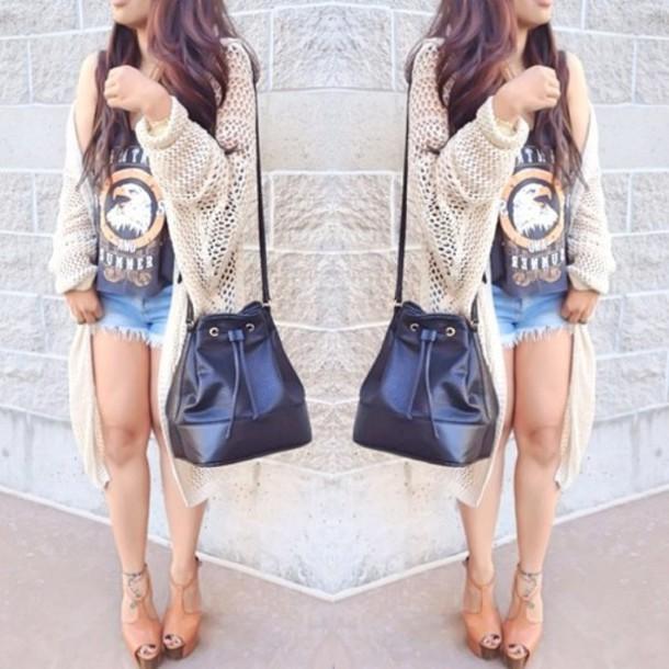 bag black handbag shoulder bag