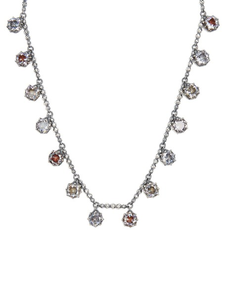 Bottega Veneta necklace silver necklace silver brown jewels