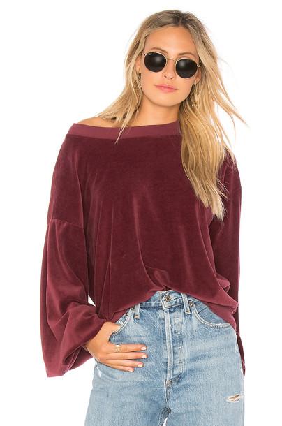 Young, Fabulous & Broke sweatshirt red sweater
