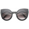 Eye lids poppin cat eye sunglasses in black at flyjane