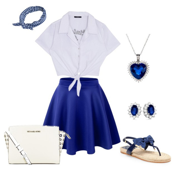 skirt outfit ootd fashion blue skirt
