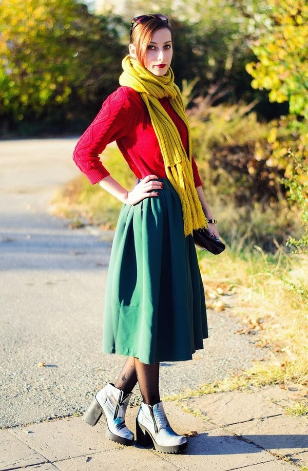 beauty insanity sweater skirt shoes scarf