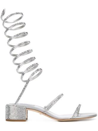 embellished sandals grey shoes