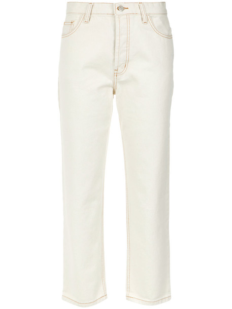 EGREY jeans cropped jeans cropped women nude cotton