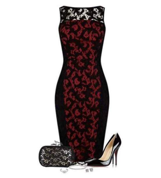 ccb1eabab6e5 dress red and black dress lace dress black lace dress sexy short dresses  short dress red
