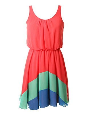 ASOS Fashion Finder | LOVE Watermelon Chiffon Rainbow Hem Dress