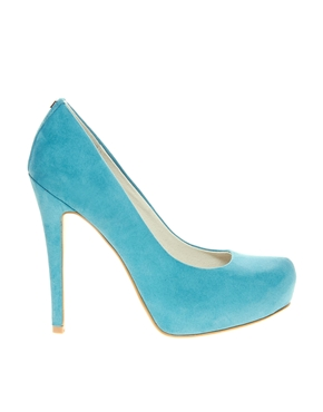 Faith | Faith Cadburys Turquoise Heeled Court Shoes at ASOS