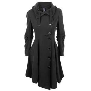 High jersey asymmetric button trench at flannels fashion